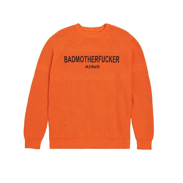 ALIFE Bad MF Intersoa Sweater Orange