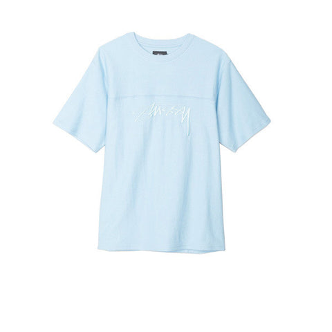 Stussy Reverse Terry Football Crew Light Blue