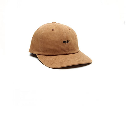 Obey Cutty 6 Panel Wheat Brown