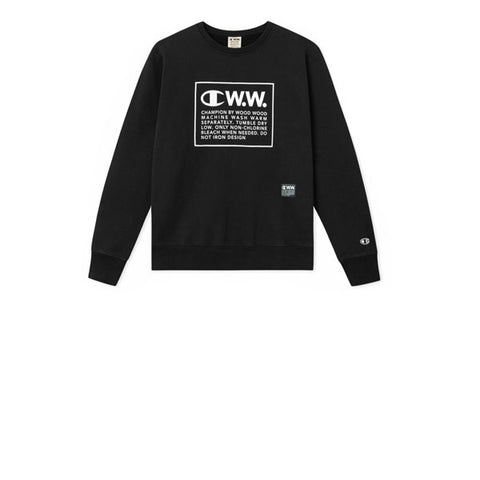 Champion x WOOD WOOD Crewneck Sweatshirt Black