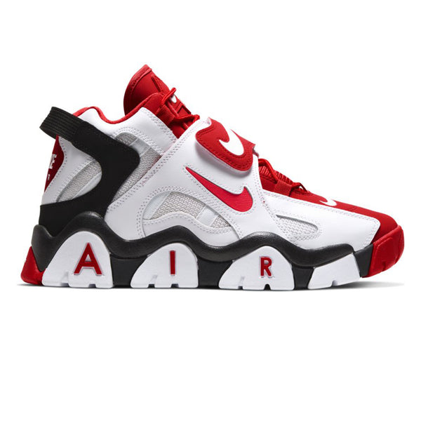 Nike Air Barrage Mid White University Red Black