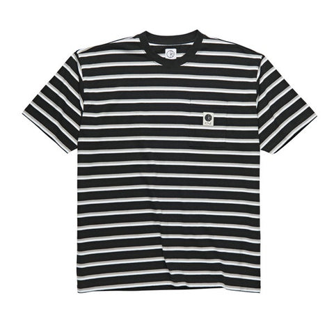 Polar Stripe Pocket Tee Black