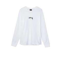 Stussy Smooth Stock Emb L/S Tee White