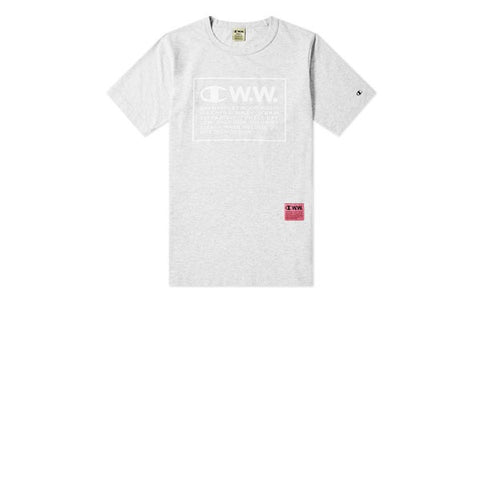 Champion x WOOD WOOD Crewneck T-Shirt Grey