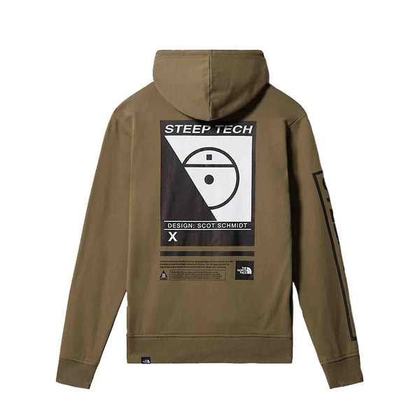 The North Face Steep Tech Logo Hood Burnt Olive Green