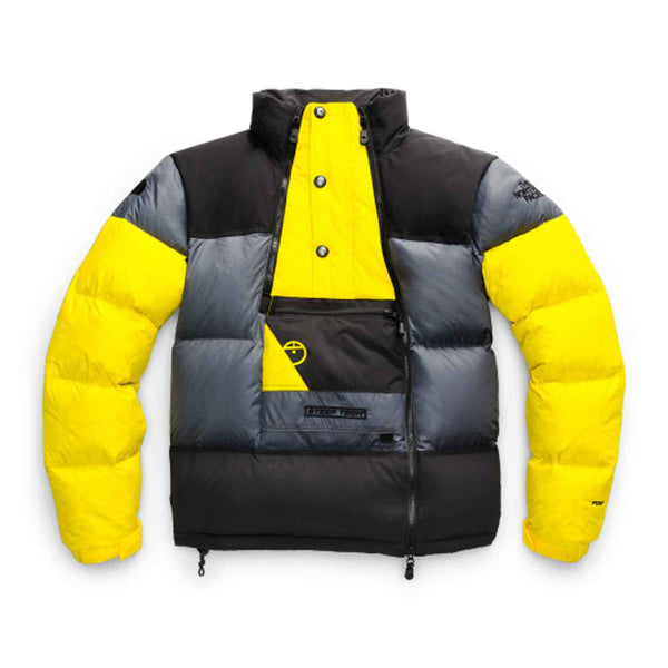 The North Face Steep Tech Down Jacket Lightning Yellow Grey Black