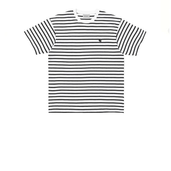 Carhartt S/S Champ T-Shirt Champ Stripe Black White