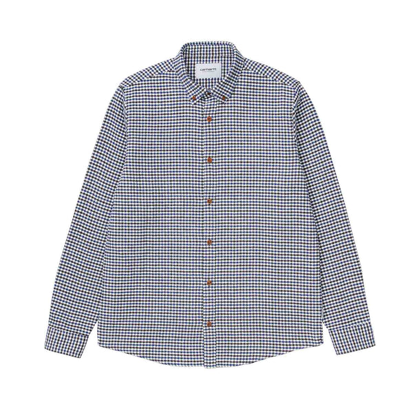 Carhartt WIP L/S Thorne Shirt Houndstooth/Tobacco