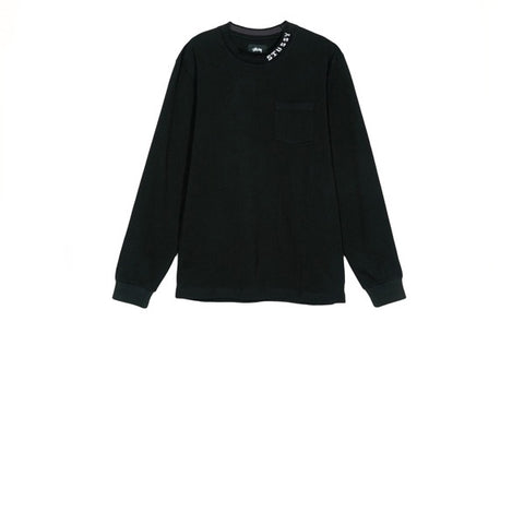 Stussy Diamond L/S Crew Black