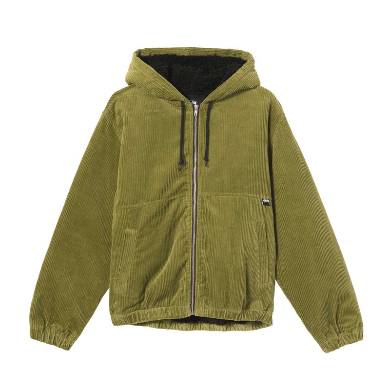 Stussy Wide Wale Work Jacket Green