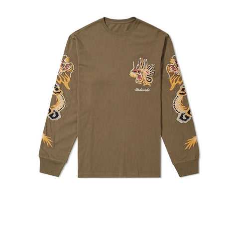 Maharishi Golden Long Sleeve T-Shirt Maha Olive