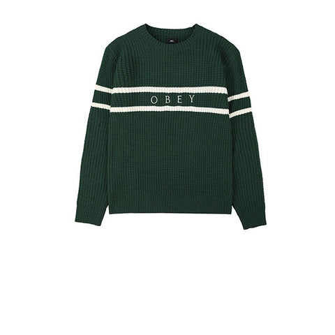 Obey Roebling Sweater Dark Teal Multi
