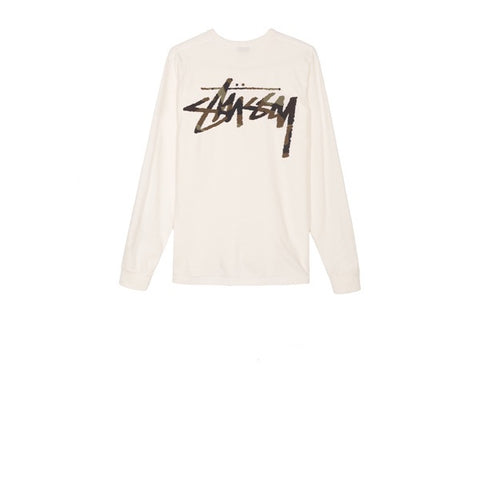 Stussy Camo Stock Pig Dyed Pocket L/S Tee Natural