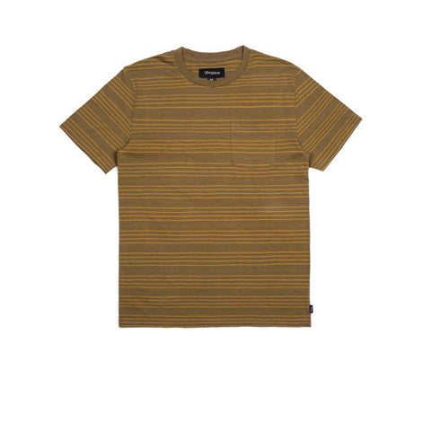 Brixton Hilt Washed SS Pocket Knit Olive