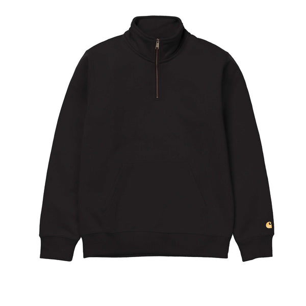Carhartt WIP Chase Neck Zip Sweat Black