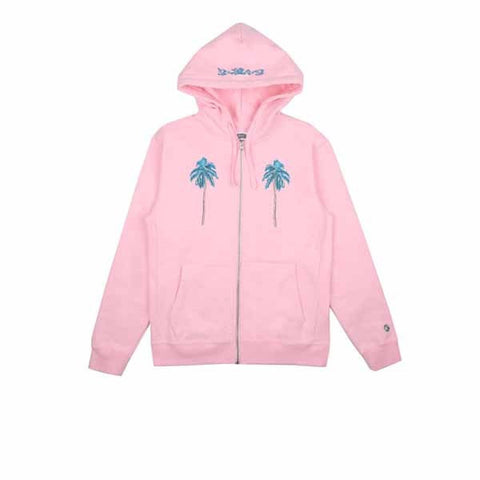 BBC Palm Tree Zip Through Hood Pink