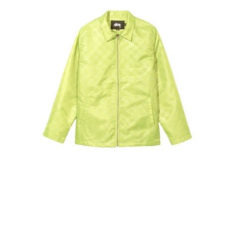 Stussy Tonal Check Jacket Lime