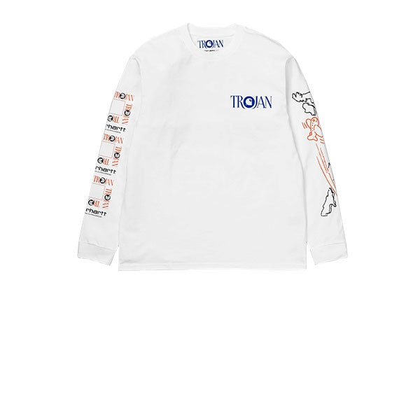 Carhartt L/S TROJAN Boss Sounds T-Shirt White