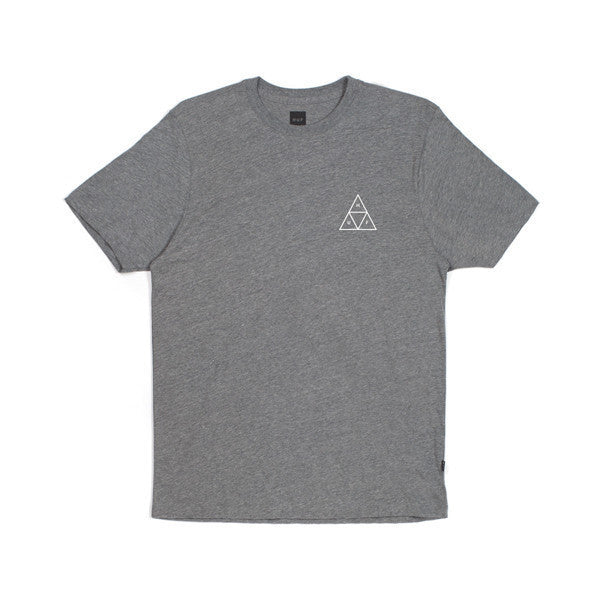 Huf Triple Triangle Tee Charcoal - Kong Online