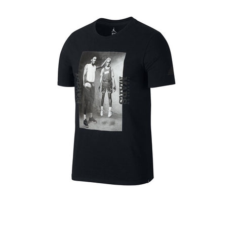 Air Jordan Mars Blockmon Photo T shirt Black