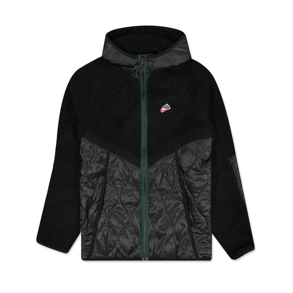 Nike Heritage Hooded Jacket Black Black