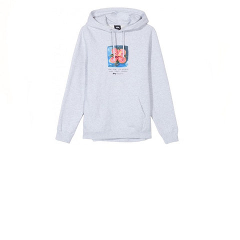 Stussy Hibiscus Hood Ash Heather