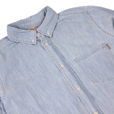 Carhartt L/S Civil Shirt Blue Stone Washed - Kong Online - 2