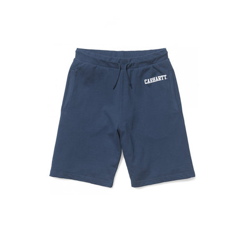 Carhartt College Sweat Short Blue White - Kong Online