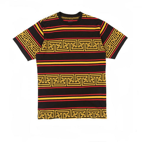 Maharishi Striped T-Shirt Flare Red