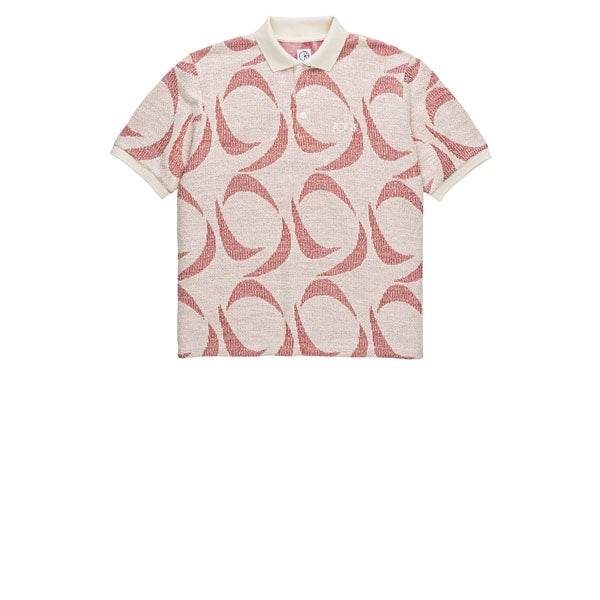 Polar Pattern Polo Ivory Red