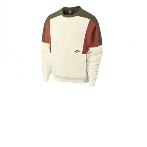 Nike Re-Issue Crew Fleece Sail Dark Russet
