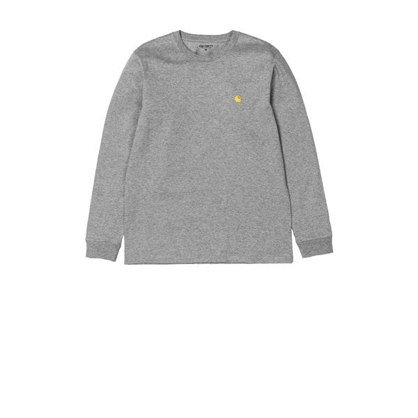 Carhartt L/S Chase T-Shirt Grey Heather Gold