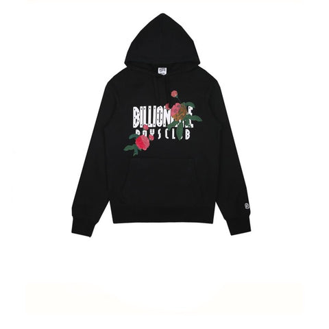 Billionaire Boys Club Embroidered Floral Popover Hood Black