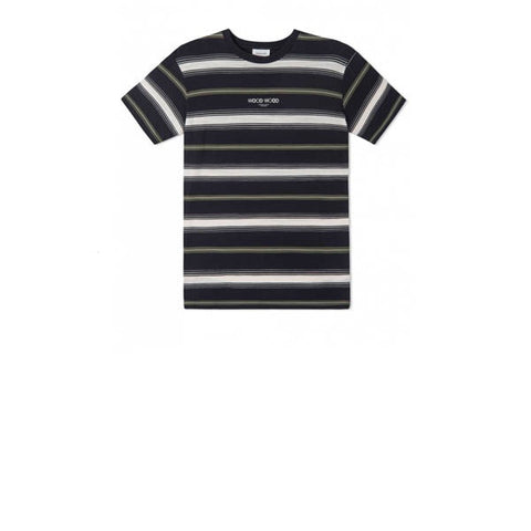 WOOD WOOD Perry T-Shirt Navy Stripe