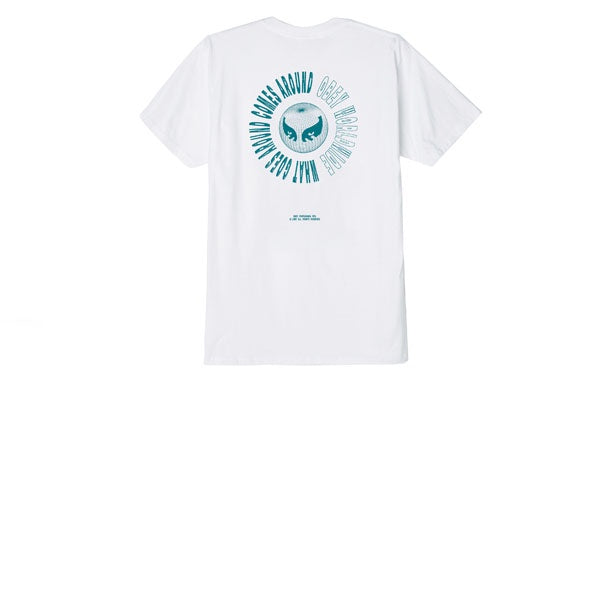 Obey What Goes Around Tee White