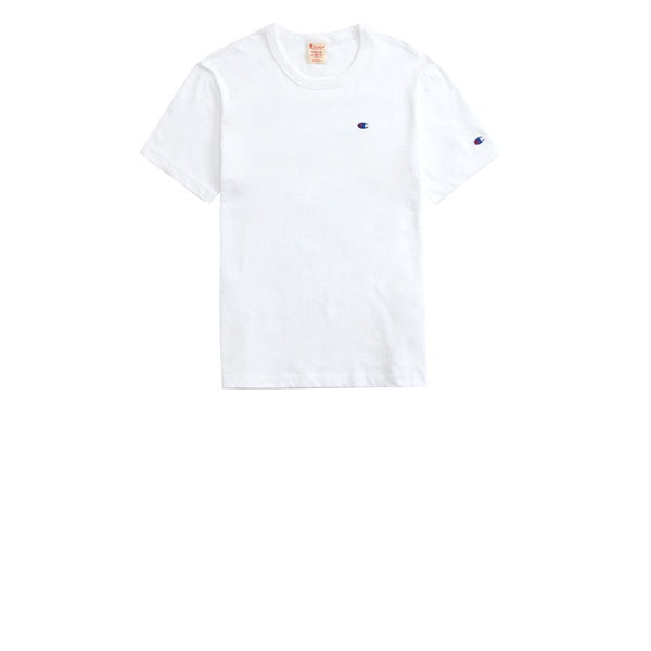 Champion Emb Back Script Crewneck T-Shirt White