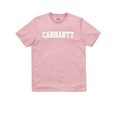 Carhartt S/S College T-Shirt Soft Rose White