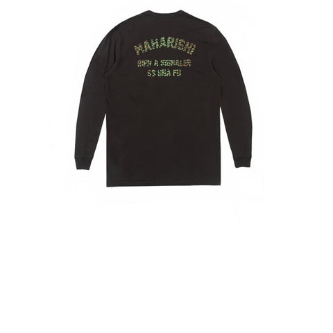 Maharishi Arch Embroidery L/S T-Shirt Black