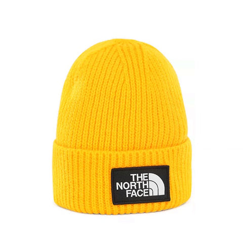 The North Face Logo Box Cuf Beanie TNF Yellow