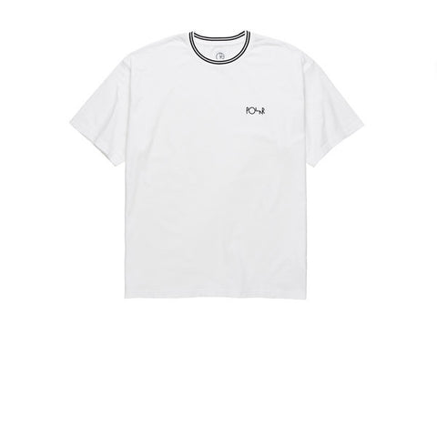 Polar Striped Rib Tee White