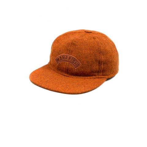 Maharishi Harris Tweed 6 Panel Cap Rust - Kong Online