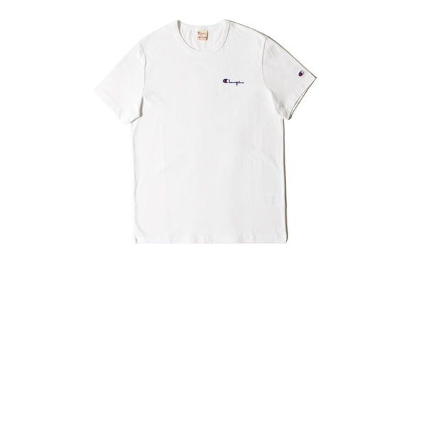 Champion Small Script Crewneck T-Shirt White