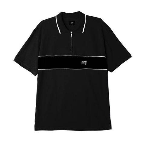 Obey Johnny Zip Polo SS Black