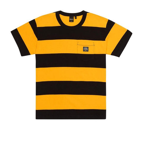 Deus S/S Bonnieville Stripe Tee Butterscotch Yellow