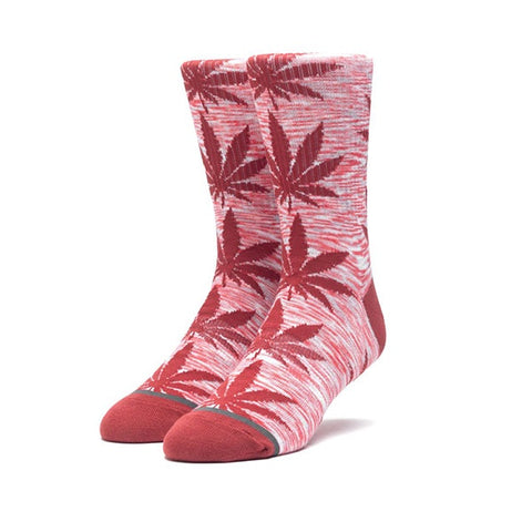 HUF Melange Plantlife Sock Rose Wood Red
