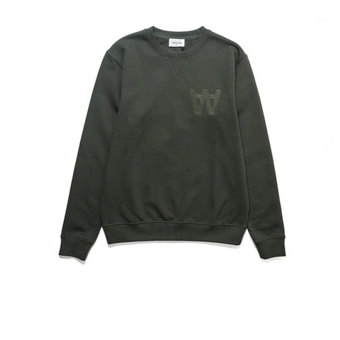 WOOD WOOD Houston Sweatshirt Dark Green