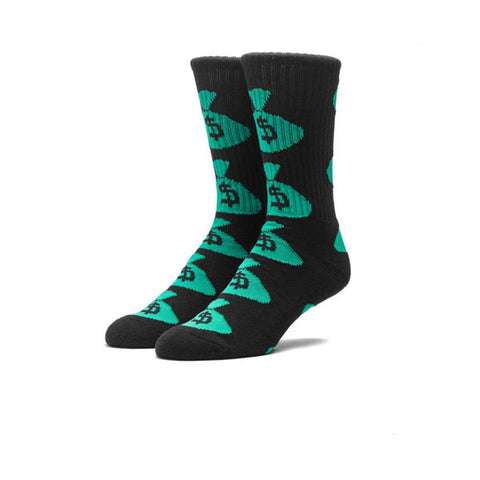 HUF Money Bags Crew Sock Black