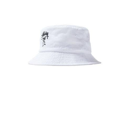 Stussy Warrior Bucket Hat White
