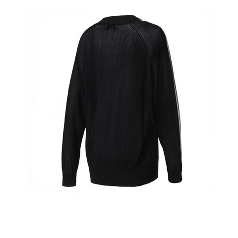 Adidas 3 Stripes Sweater Black - Kong Online - 2