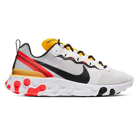 Nike React Element 55 White Black Bright Crimson
